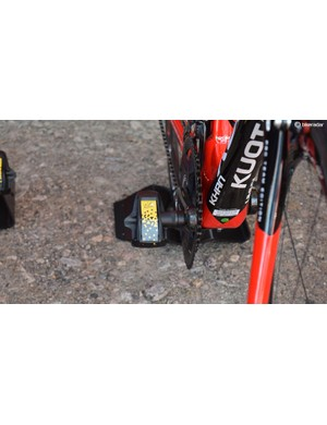 Several riders from a number of teams had special Tour de France edition Look Keo Blade Carbon pedals for the race