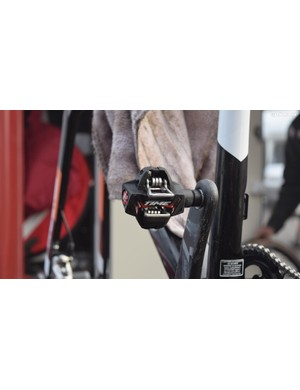 The majority of riders used Shimano pedals, but there were a few Time Atac pedals around