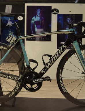 Michal Kwiatkowski's 2014 Specialized S-Works Tarmac SL5 that was ridden to gold at the Ponferrada world championships