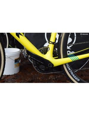 Aerts runs Shimano XTR pedals alongside the Dura-Ace R9100 series crankset