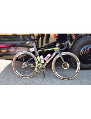 Rigoberto Uran's (EF Education First-Drapac) Cannondale SystemSix