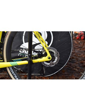 140mm Shimano RT-99-A-SS centre lock disc rotors were popular among some of the big names at Zeven
