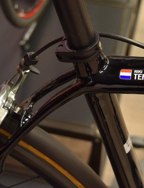 A look at the seat junction on Niki Terpstra's Specialized Roubaix