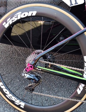 Vision provides EF-Drapac with carbon, disc-specific wheels
