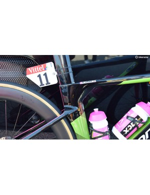 A look at the seat cluster on Uran's Cannondale SystemSix