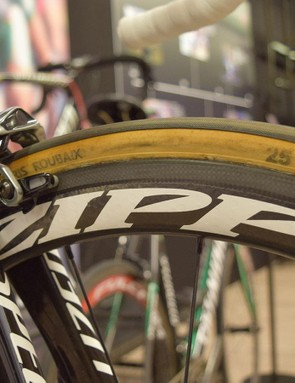 Terpstra won the race on the famous FM Paris-Roubaix cotton tubulars, in a 25mm width