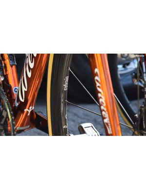 Chavanel also has custom chrome decals on his wheels