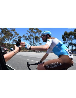 Bottles were taken by AG2R La Mondiale riders at every opportunity