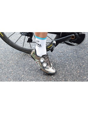 French sprinter Bryan Coquard is known for his custom shoes
