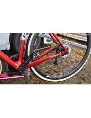 Van der Poel uses 'Prototype' Shimano pedals