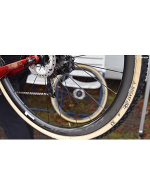 The Beobank-Corendon team ran A. Dugast Rhino tubular tyres at Zeven