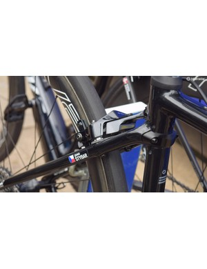 The Specialized Roubaix Stybar was equipped with direct mount brakes, a model not yet available to consumers