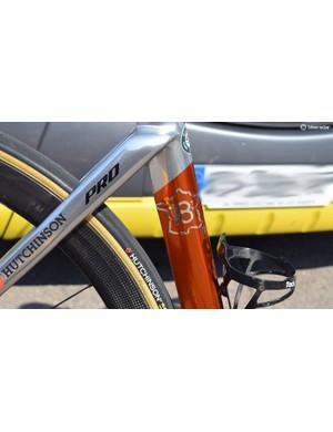 The frameset commemorates Chavanel's eighteenth Tour de France, a record for the race