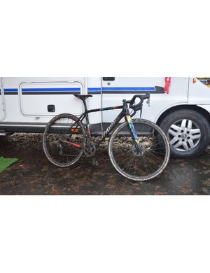British U18s rider Ben Tullett's S-Works Crux following his 16th place finish in Zeven