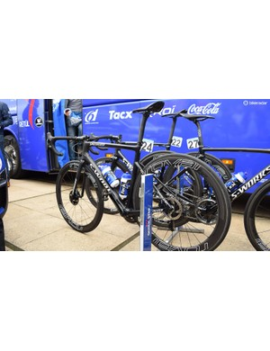 Quick-Step Floors raced on a mix of rim brake and disc brake equipped Tarmac, Venge and Roubaix framesets