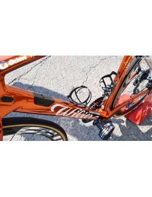 The aero frameset features truncated tubing profiles
