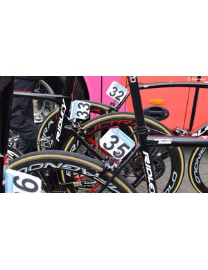 Lotto Soudal riders mixed it up at the race with some of the team on Ridley Noah SL and others on Helium SLX framesets