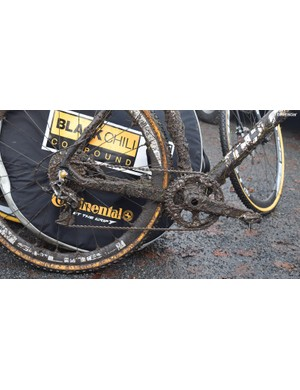 The bikes and components had to deal with very muddy conditions in Germany