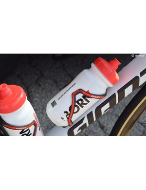 Giant also produces the bottle cages and bidons for the Team Sunweb bikes