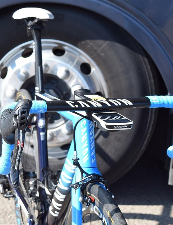 A look at the front end of Alejandro Valverde's Canyon Ultimate