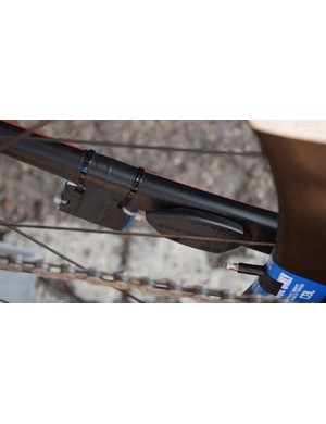 Giant produces proprietary SpeedSense sensors on the chainstay of the Giant TCR