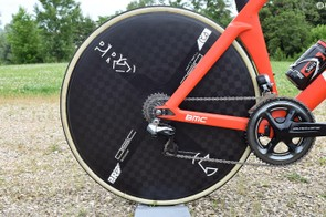 BMC Racing uses wheels from Shimano, with its time trial wheels coming from Shimano's sister brand PRO