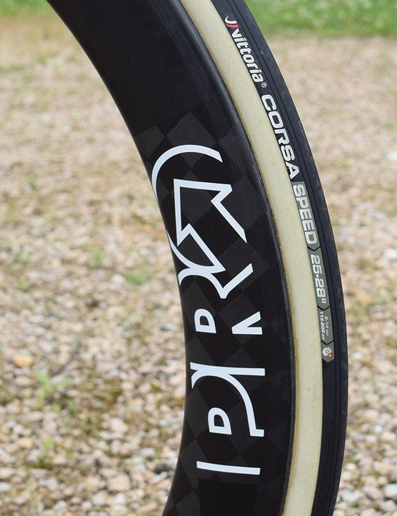 BMC uses Vittoria Corsa tubular tyres for all of its racing throughout the year