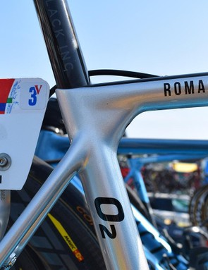 A number three on Bardet's number plate denotes the three stage victories at the Tour de France for the Frenchman