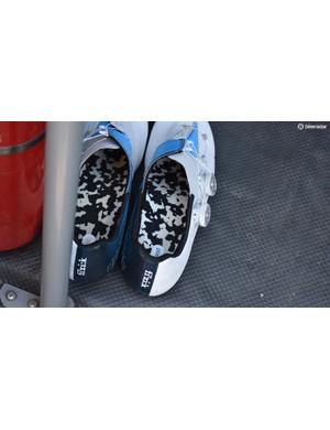Custom inner soles for a Movistar rider