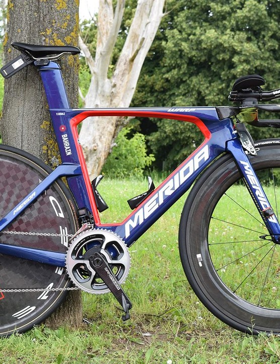 Vincenzo Nibali's Merida Warp TT