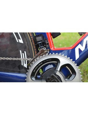 Nibali opted for 55/42 chainrings for the rolling team time trial at Criterium du Dauphine