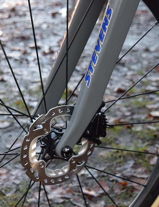 A closer look at the front disc brake