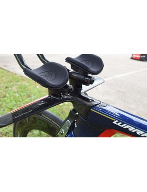 Height, reach and handlebar extension shape are completely customisable and vary from rider to rider