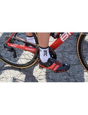 Tejay van Garderen wears Giro Factor Techlace shoes