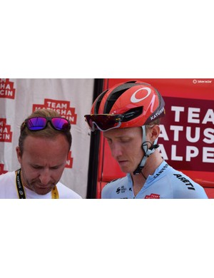 Ian Boswell was another rider who wore Tour de France edition sunglasses for the race