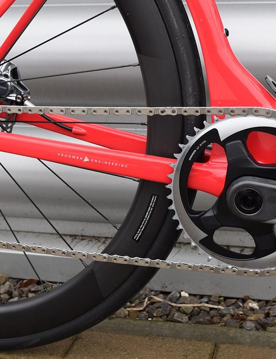 A look at the drivetrain in its 1x setup