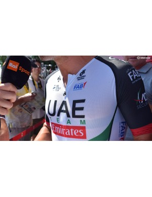 Not all of the UAE Team Emirates riders are convinced by the new jersey, with some sticking with their usual speed suit