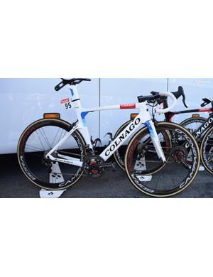 Alexander Kristoff's (UAE Team Emirates) Colnago Concept in custom colours for the European road race champion