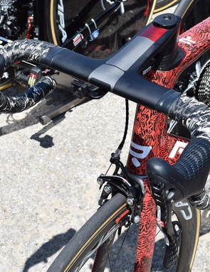 This new aero frameset from Ridley also appears to have a frame-specific integrated carbon cockpit
