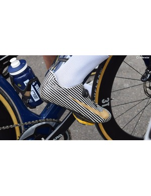 Adam Blythe has become known for his custom Nike branded cycling shoes