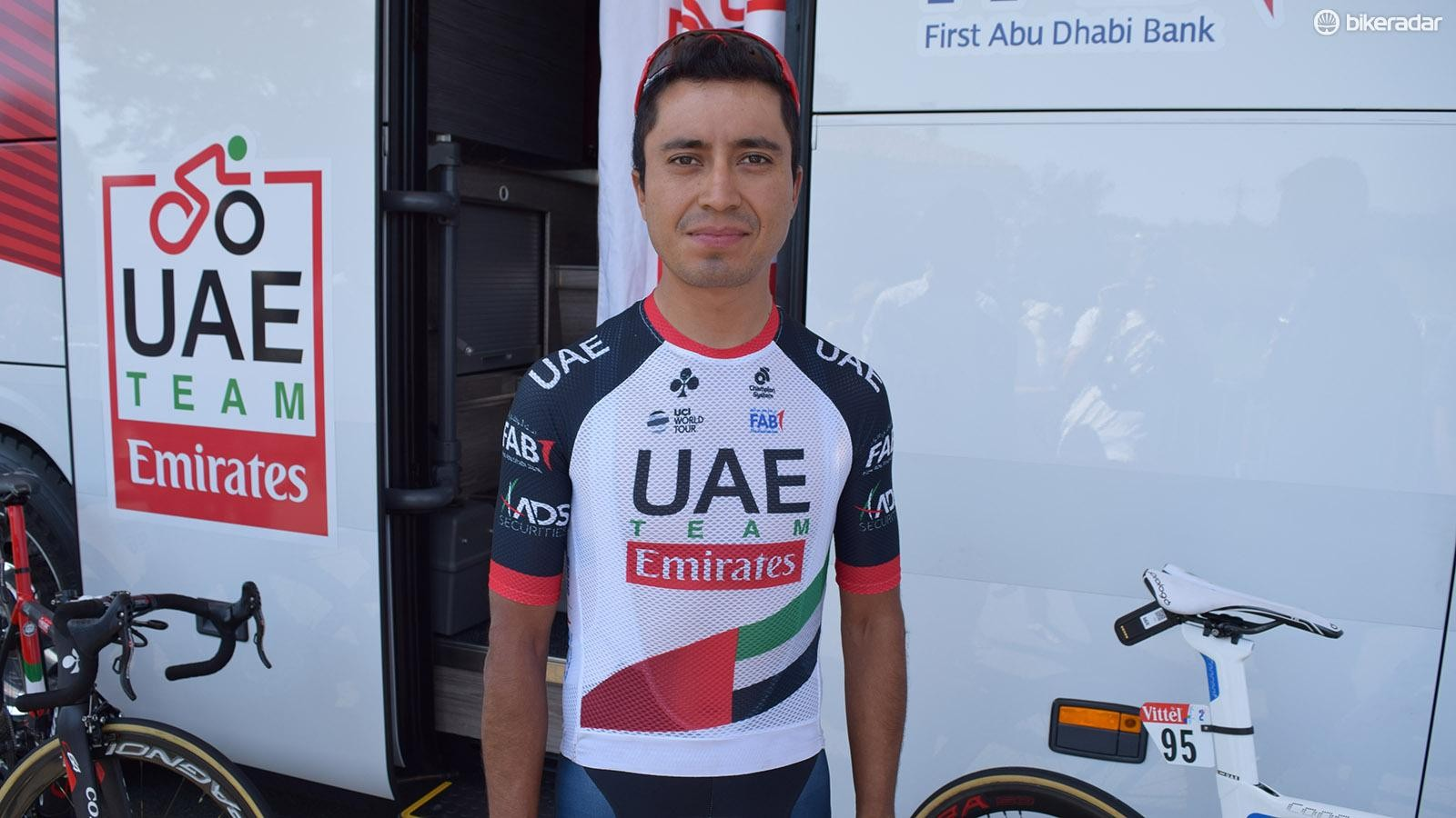 Darwin Atapuma told BikeRadar ahead of stage two that the jersey was lighter and more aerodynamic than the regular team jerseys