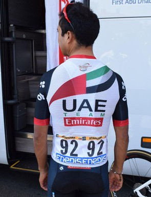 To the rear of the jersey, it looks like a regular, aggressively cut race jersey