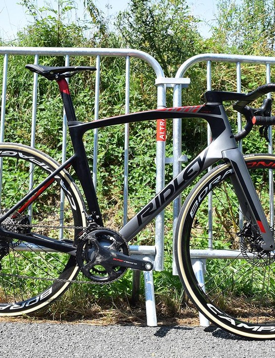 At the Tour de France, Lotto is racing the Noah Fast with Campagnolo