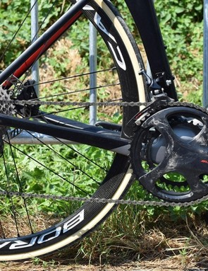 Campagnolo Super Record with discs is a rare thing