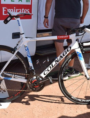 Alexander Kristoff's Colnago V2-R in European champion custom colours