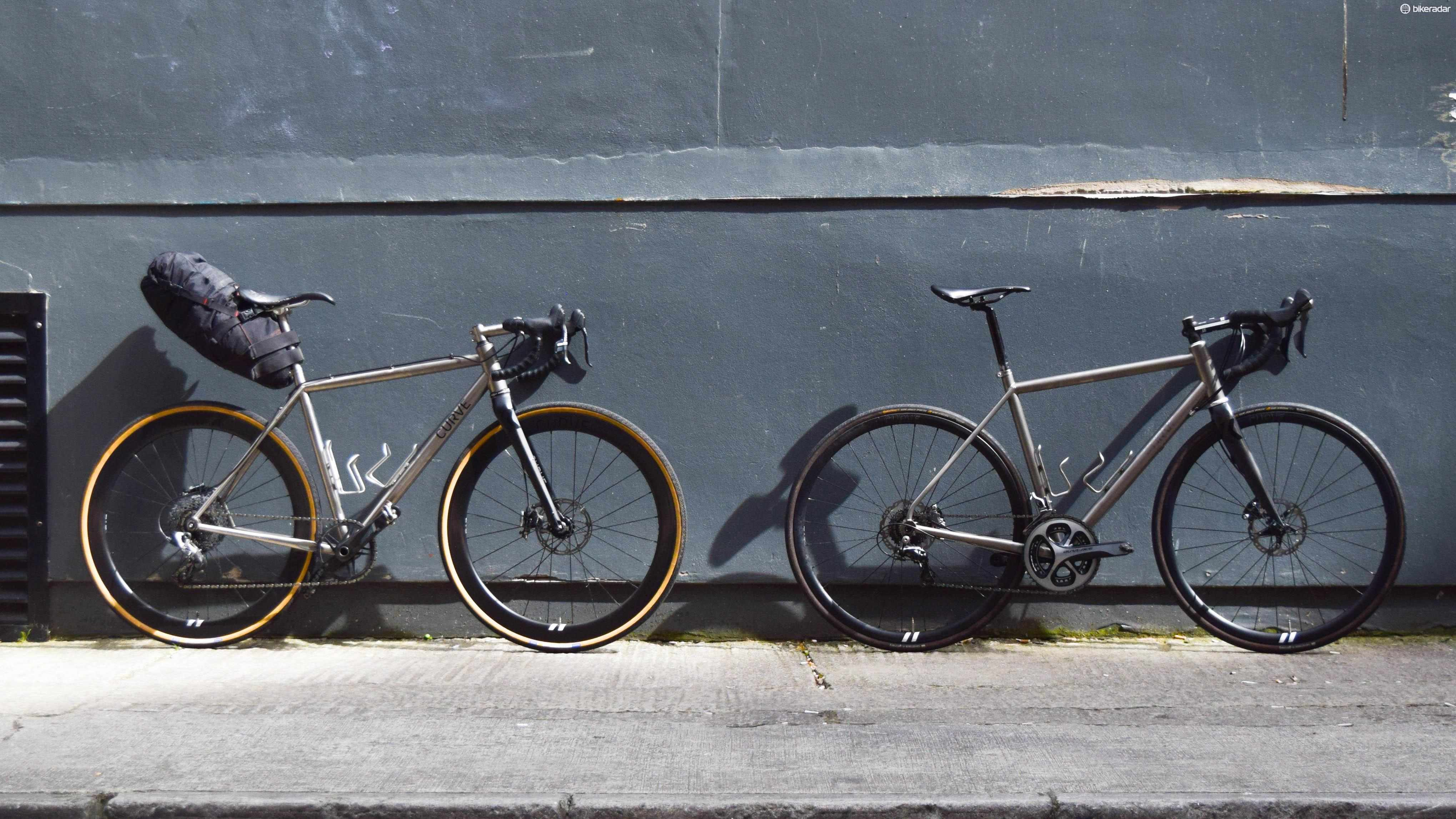 Curve Cycling's cyclocross-ready CXR (left), and the all-road Belgie Spirit