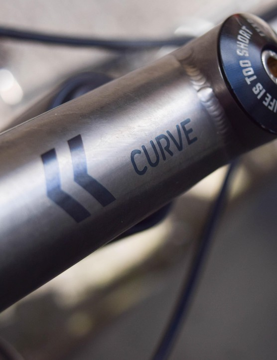 Curve Cycling does a nice range of finishing kit too, like this stem