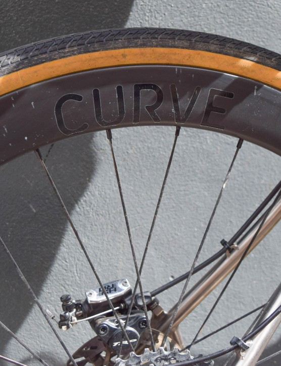 These are Curve Cycling's 50mm deep-section carbon wheels