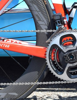 AG2R La Mondiale pairs its Factor framesets with drivetrain components from Shimano, SRM and CeramicSpeed