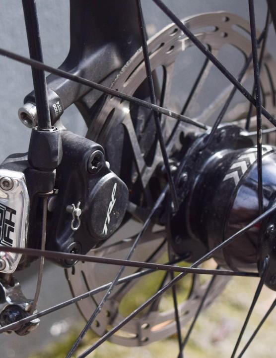 Dynamo hubs provide power for Lana's bike lights